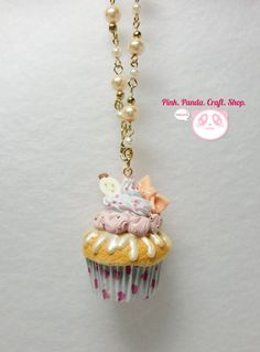 Lovely creamy pastel colors polymer clay cupcake keychain by pinkpandacraftshop, $18.00