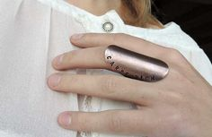 bohemian ring, sentence, copper ring, armor ring, bondage ring, personalized ring, ring copper, carpe diem
