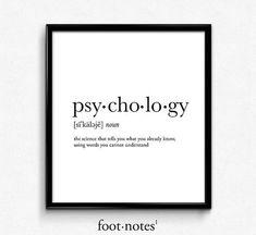 Psychologie Psychologie Geschenke Psychologie von footnotestudios