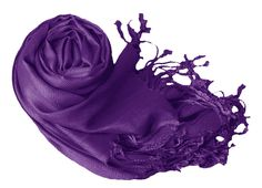 Luxurious Eco-friendly Pashmina Shawl (Purple) - for bridesmaids?