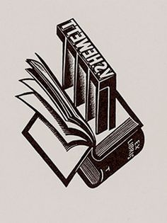 Bookplate by Australian artist Eric Thake (1904-1982) for book collector and publisher V.S. Hewett, 1932