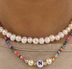 Cute Jewelry, Diy Jewelry, Beaded Jewelry, Jewelry Accessories, Handmade Jewelry, Jewelry Making, Fashion Jewelry, Accesorios Casual, Diy Necklace