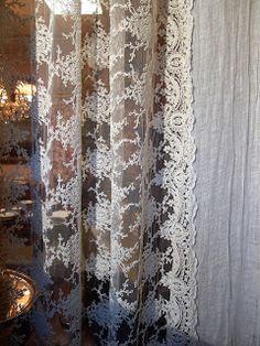 Il Blog di Antichità Bellini : Tovaglie, tende in pizzo e lino... trasparenze da sogno a prezzi accessibili