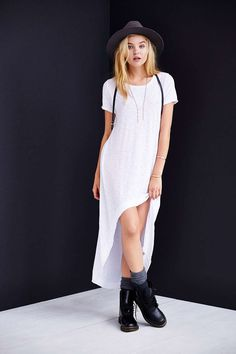 Truly Madly Deeply Graphic High/Low Tee Dress