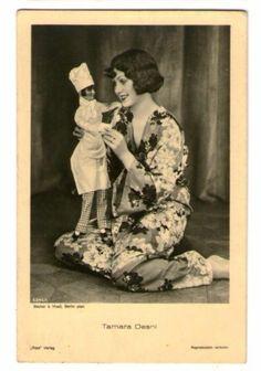 Tamara Desni with boudoir doll