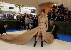 Oh this old thing?Priyanka Chopra needed a team of assistants to look after her train, wh...