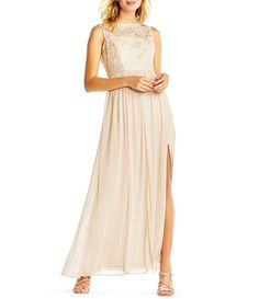 Adrianna Papell Sequin Tulle Gown
