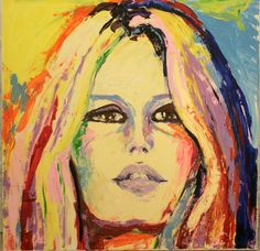 Brigitte Bardot , acryl on canvas, 100x100