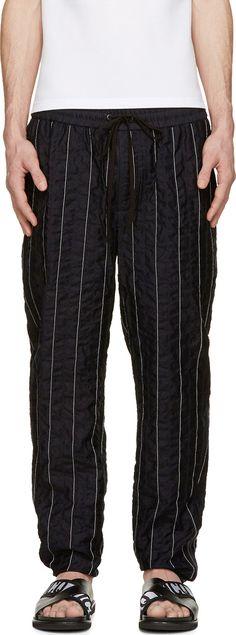 3.1 Phillip Lim - Black Stripe Stitched Lounge Pants