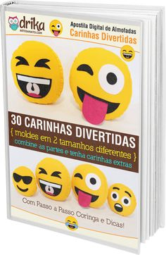 Apostila Digital Carinhas Divertidas — Dicas do Blog Drika Artesanato