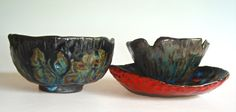 black pottery bowl collection