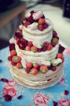 Sponge Cake Wedding Cake-for Wedding Tea party