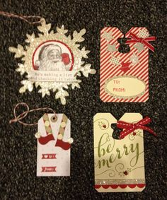 My Stampin' Up! Christmas tags this year!
