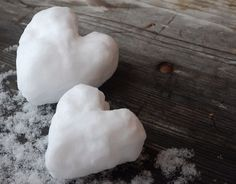 Hearts of snow. Lovely.
