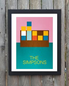 the simpsons minimal minimalist movie film by minimalmovieprints, £10.00