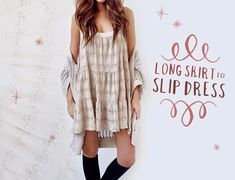 vestito-fai-da-te-DIY-Skirt-to-Slip-Dress-riciclare-una-gonna-lunga