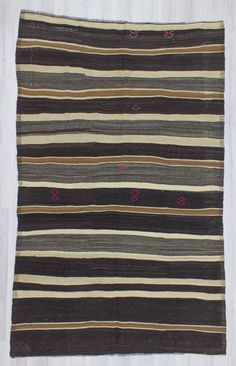 Vintage striped kilim rug from Malatya region of Turkey.İn good condition.Approximately 55-65 years old