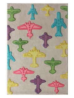 Airplanes Hand-Tufted Rug by nuLOOM at Gilt