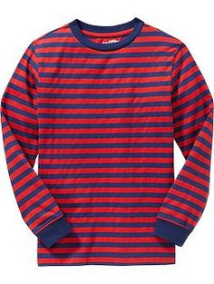 Boys Striped Long-Sleeved Tees