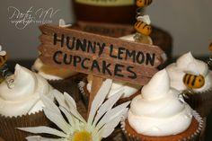 Cupcakes at a Winnie the Pooh Baby Shower #winniethepooh #babyshower