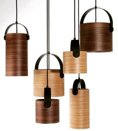 rewired OOTW veneer pendants. #rewired_dk #oooja #lighting #pendant #wood