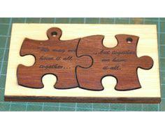 Key ring tags. Pair in timber custom engraved