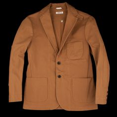 UNIONMADE - The Hill-side - Duck Canvas Tailored Jacket in American Brown JK1A-313