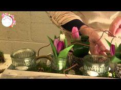 Maak zelf een bloemstuk met Online Bloemschikken. - YouTube