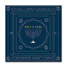 Ready2HangArt 'Chag Urim Sameach' Hanukkah Canvas Wall Art