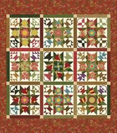 Thank you to United Notions, producers of Quilting Fabric, Sewing Notions, and Home Decor, for special permission to publish these fabulous quilt block patterns