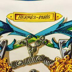 "Hermès ""Le Mors a la Conétable"" Silk Scarf at Secondi Consignment"