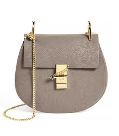 Chloé 'Drew' Leather Crossbody Bag, Motty Grey