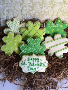 Shamrocks cookies by Frosted