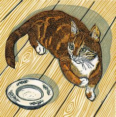 """""""Oliver"""" (2014) - Linocut by Vanessa Lubach"""
