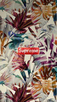 Louis Vuitton X Supreme Pattern Wallpaper Wallpapers
