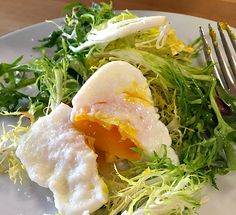 How to Poach an Egg like a Professional Chef for this Frisee Salad with warm bacon vinaigrette.