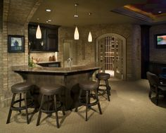 With a new year approaching, there are some new remodeling trends emerging. To help, here's what remodeling trends will be hot in Man Cave Home Bar, Remodel, Home Remodeling, Floor Remodel, Basement Bar Designs, Bars For Home, Remodeling Trends, Cozy Basement, Renovations