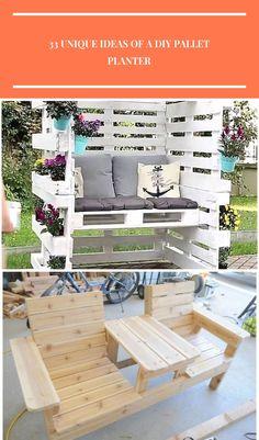 Terrasse (Patio) 33 Unique Ideas of a DIY Pallet Planter