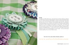 Ribbons for a pony party or birthday pin