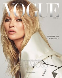 Fashion's A-team comes together in the March 2021 issue of Vogue Hong Kong. Supermodel Kate Moss covers March with a fashion story styled by Patti Wilson, lensed by Luigi & Iango.