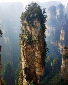 Avatar Mountains - Zhangjiajie, China Also known as inspiration for Pandora