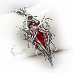 XEENTURH - silver and red quartz by LUNARIEEN.deviantart.com on @deviantART