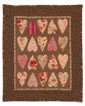 Maple Sugar Hearts quilt by Karen Costello Soltys Lap Quilts, Small Quilts, Mini Quilts, Heart Quilts, Quilt Blocks, Wool Applique, Applique Quilts, Charm Square Quilt, Country Quilts