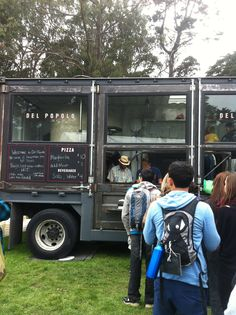 Del Popola Pizza. Now THAT's a food truck -a wood-burning pizza oven in a retrofitted trans-Atlantic container truck at San Francisco's Outside Lands. http://www.mercurynews.com/food-wine/ci_21287236/food-wine-and-beer-at-san-francisco-outside-lands-festival
