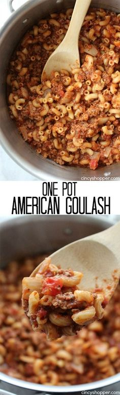 One Pot American Goulash- Super simple comfort food! All made in One Pot.