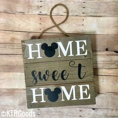 Home sweet home Disney sign, Disney home decor, Disney wall decor, Disney home sign, Home sweet home sign, Disney home gifts by KTRGoods on Etsy https://www.etsy.com/listing/502854428/home-sweet-home-disney-sign-disney-home