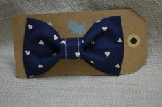Hey, I found this really awesome Etsy listing at https://www.etsy.com/listing/175982603/navy-blue-hearts-bow-tie-pet-collar-bow