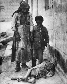 A starving child in Yerevan, where the Armenians attempted to set up an independent republic after the War to avoid further massacre by the Turks Elson, p. 65