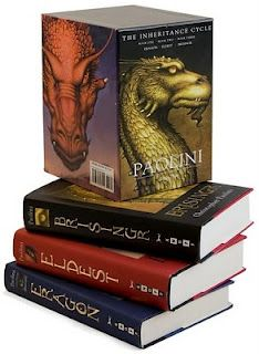 Eragon series-for young adults 11 and older. Harry Potter, Narnia, and LOTR fans will love this series