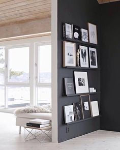 Love a black wall to display art/photos